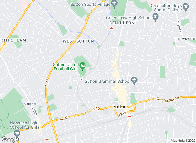 Map for Patricia Shepherd, Sutton