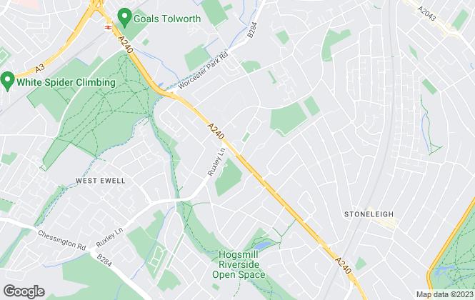 Map for Appletons, Ewell
