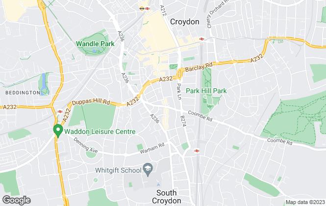 Map for Leaders, Croydon
