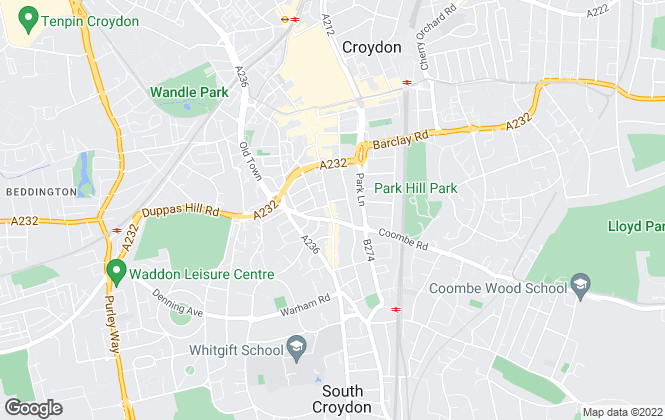 Map for Streets Ahead, Croydon Central