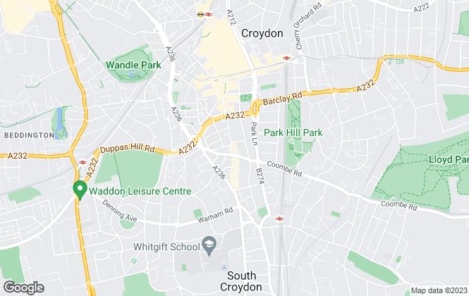 Map for Streets Ahead, Croydon Central