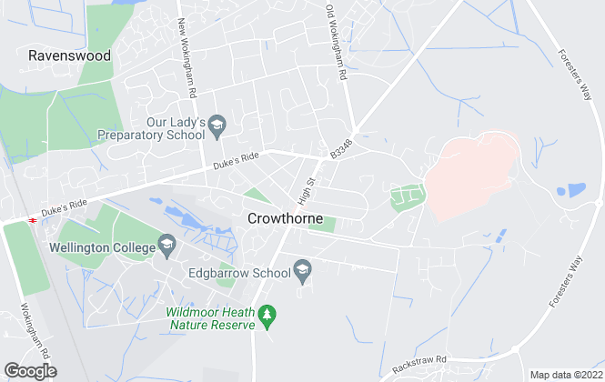 Map for Frank Schippers, Crowthorne