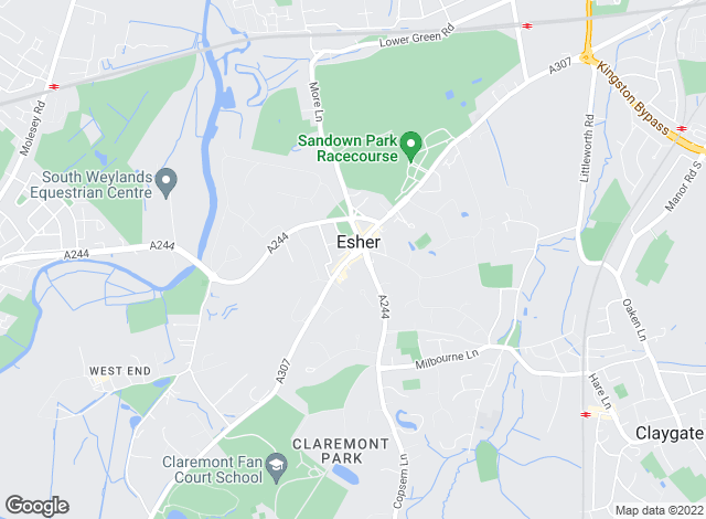 Map for Knight Frank - Lettings, Esher