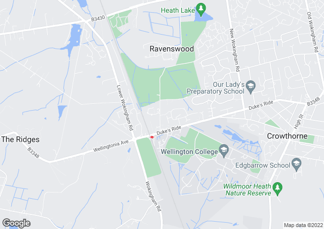 Map for Ravenswood Avenue, Crowthorne, RG45
