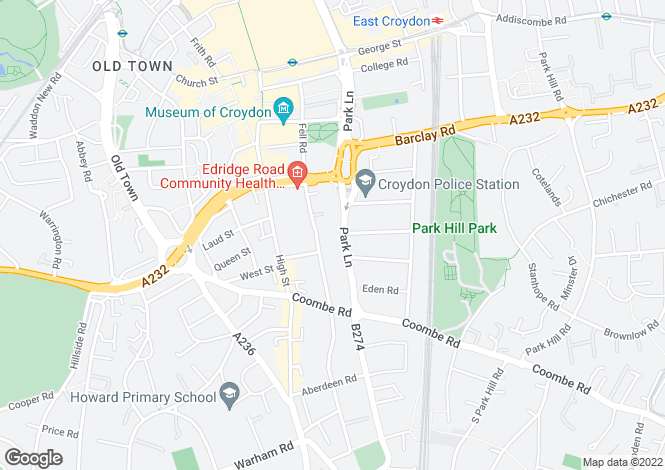 Map for Park Lane,
