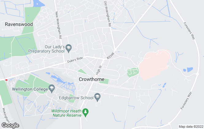 Map for Premier Homes of Distinction, Crowthorne
