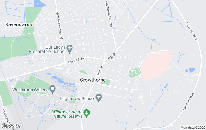 Map for Prospect Estate Agency, Crowthorne