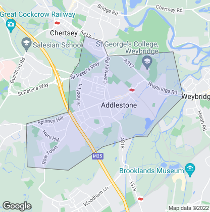 Map of property in Addlestone