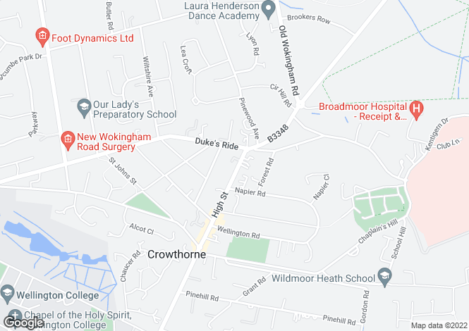 Map for High Street, Crowthorne, RG45