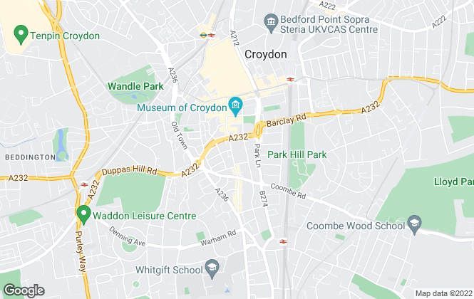 Map for Countrywide Residential Development, Croydon