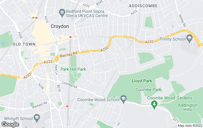 Map for Pedder, Croydon