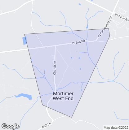 Map of property in Mortimer West End