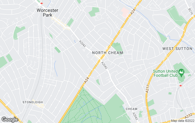Map for YOUR MOVE, North Cheam