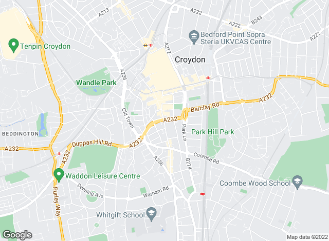 Map for Townends, Croydon