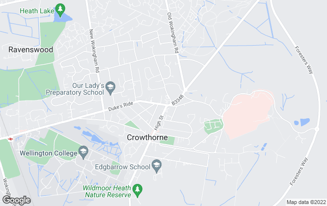 Map for Michael Hardy, Crowthorne - Lettings