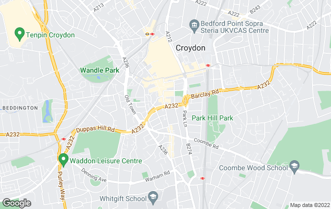 Map for Townends Lettings, Croydon - Lettings