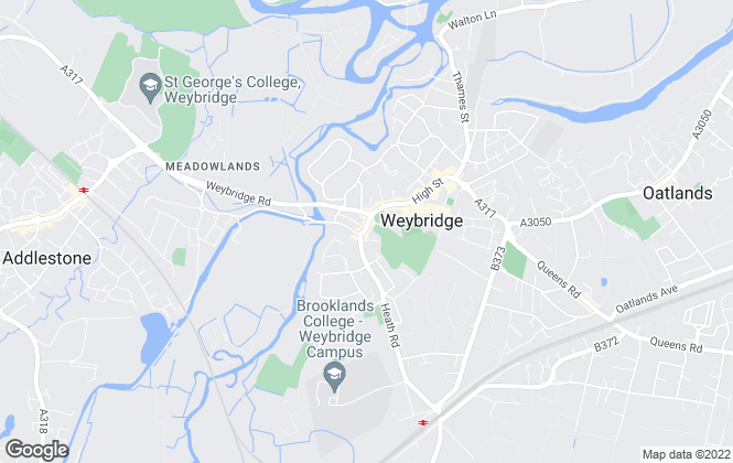 Map for Hoads Property Management, Weybridge