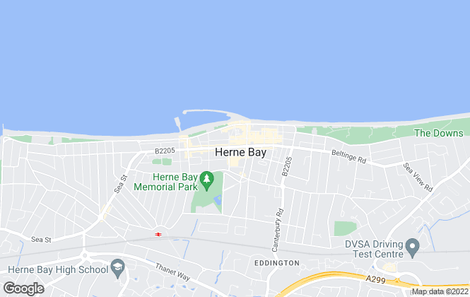 Map for David Clarke Estate Agents, Herne Bay