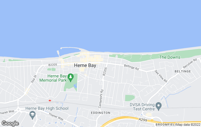 Map for Aoleon Lettings, Herne Bay