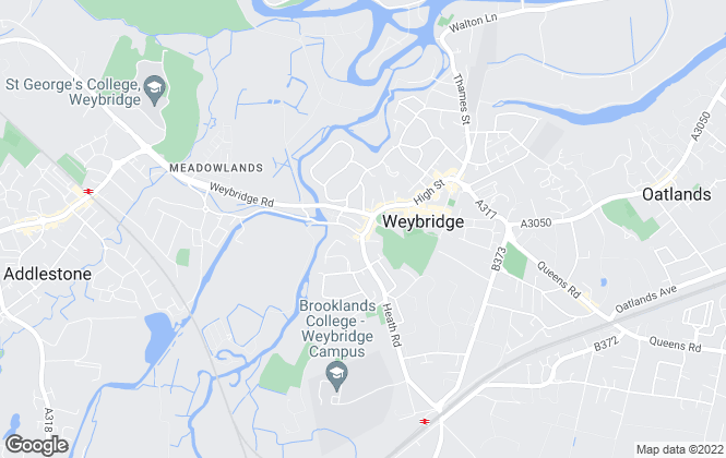 Map for Grants Independent, Weybridge - Lettings