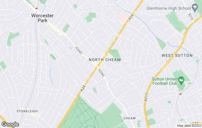 Map for Andrews Estate Agents, North Cheam
