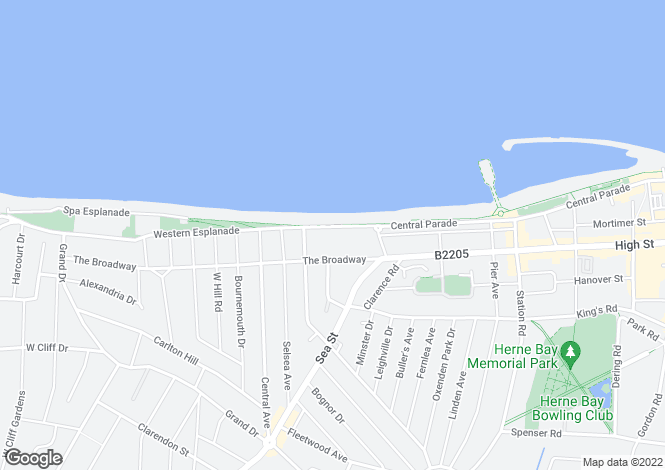 Map for Western Esplanade, Herne Bay,