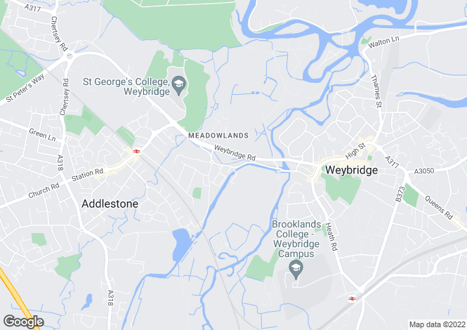 Map for Addlestone Road, Addlestone