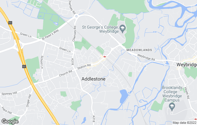 Map for Grants Independent, Addlestone