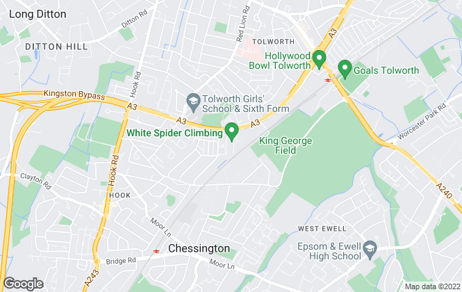 Map for Big Yellow Self Storage Co Ltd, Big Yellow Tolworth