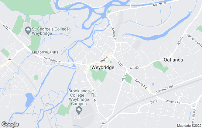 Map for John D Wood & Co. Lettings, Weybridge