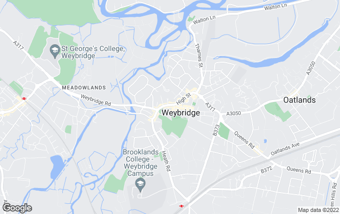 Map for Butlers Property Online, Weybridge