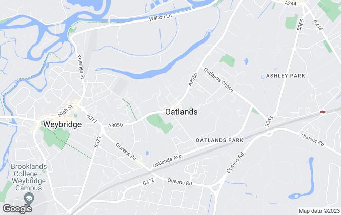 Map for APW Lettings, Weybridge
