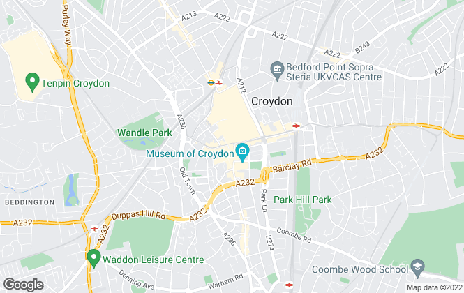 Map for Foxtons, Croydon