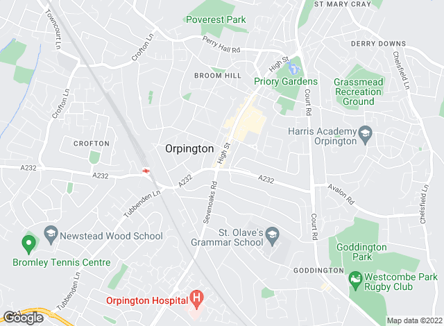 Map for Bairstow Eves, Orpington