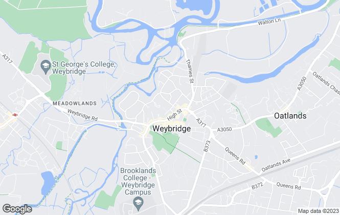 Map for DW & Co, Weybridge