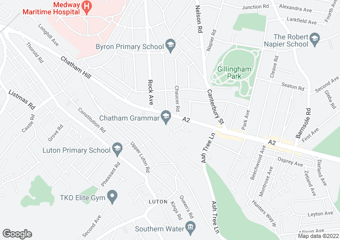 Map for Rainham Road, Chatham ME5
