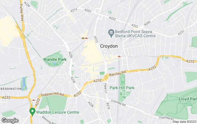 Map for EweMove, Croydon