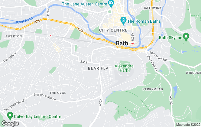 Map for Andrews Estate Agents, Bear Flat