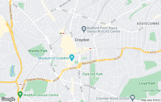 Map for Bairstow Eves Lettings, Croydon
