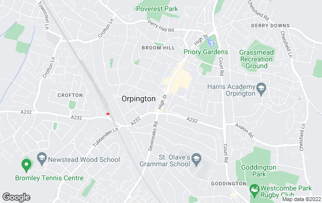 Map for Robinson Jackson, Orpington