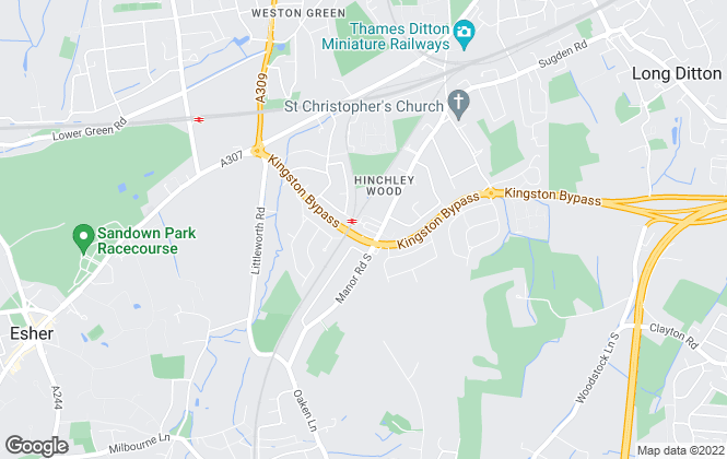 Map for Grosvenor Billinghurst, Hinchley Wood