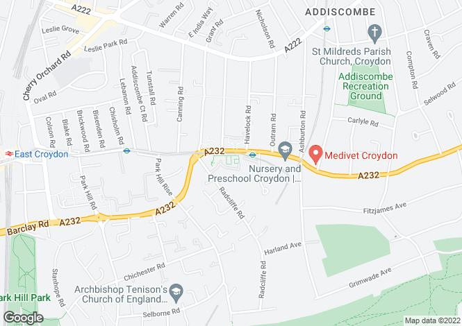 Map for Addiscombe Road, Croydon