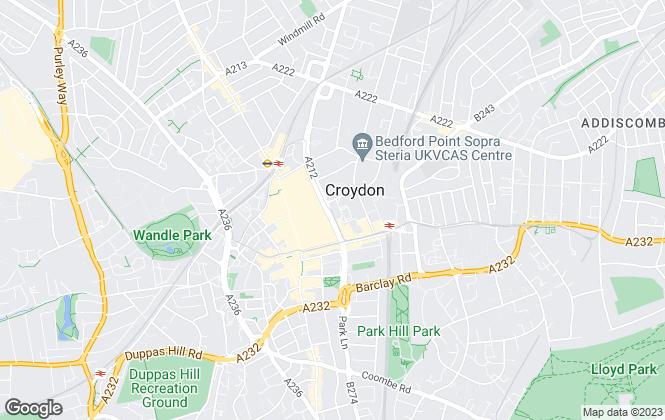 Map for Bravo Management (Croydon) Limited (69464)