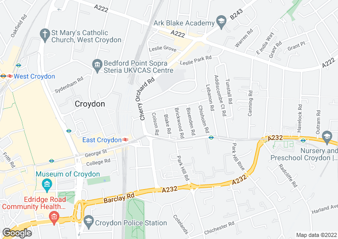 Map for Croydon, CR0