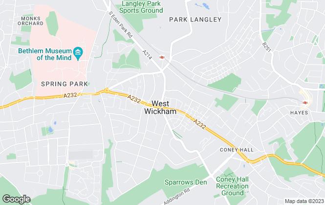 Map for Allen Barfields Estate Agents, West Wickham