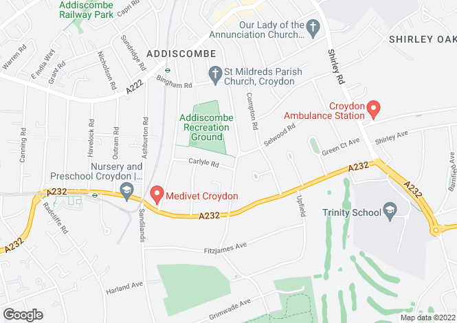 Map for Fryston Avenue,