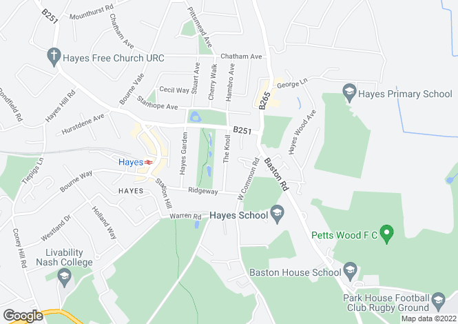 Map for The Knoll, Hayes, BR2