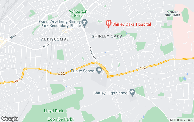 Map for Asset Property, Croydon