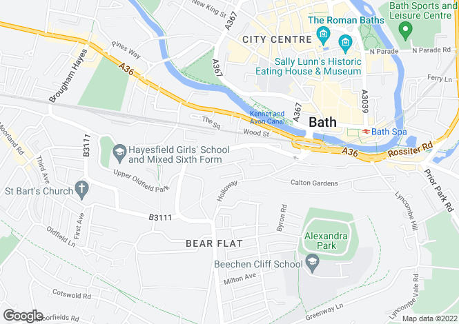 Map for Magdalen Avenue, BATH