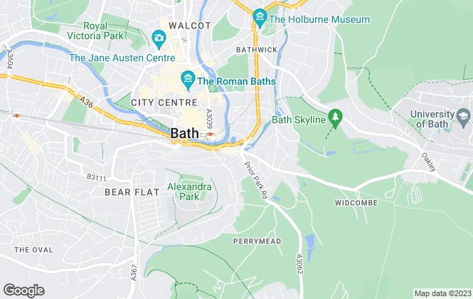 Map for The Bath Property Shop Ltd, Bath